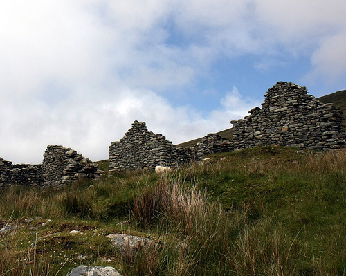 Slievemore Abandoned Village