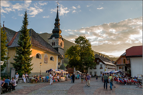 The church of the Assumption of Virgin Mary in Kranjska Gora