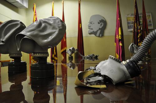 Gasmasken vor Lenin