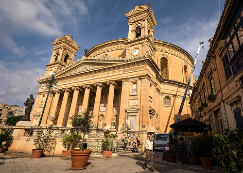 The Parish Church of the Assumption, commonly known as the Rotunda of Mosta or the Mosta Dome